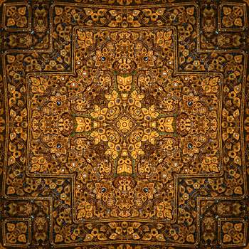 Arany - The beautiful abstract golden rug