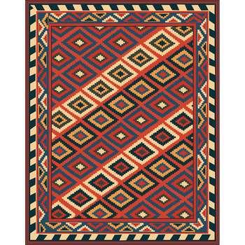 Eni - The simple dark rural indoor area rug