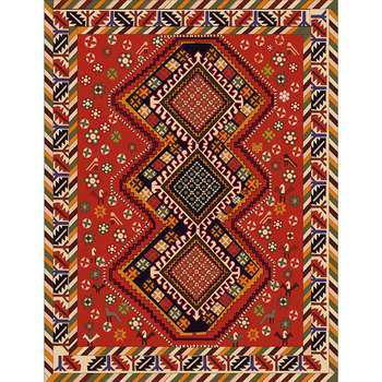 Kavya - The colorful rural design area rug