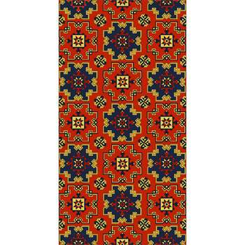 Shariq - The orange blue classical rug