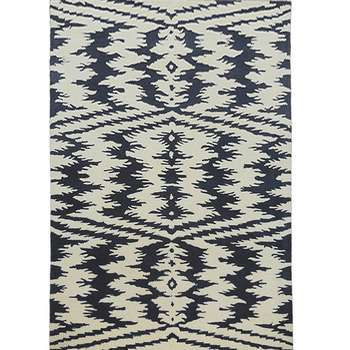 Black and white Duel tone Chevron-diamond Rug