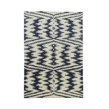 Black and white Duel tone Chevron-diamond Rug