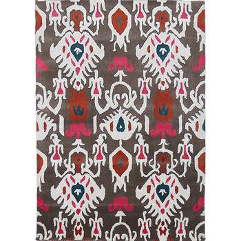Flore Albo - A rural symmetrical inside area rug.