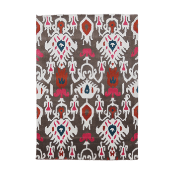 Flore Albo - A rural symmetrical inside area rug.