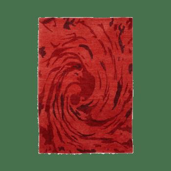 Swirl -The red handmade carpet\rug