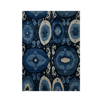 Lune bleue - The blue contemporary area rug