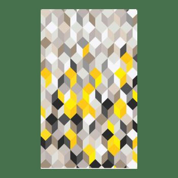 Blocks - A modern bedroom area rug
