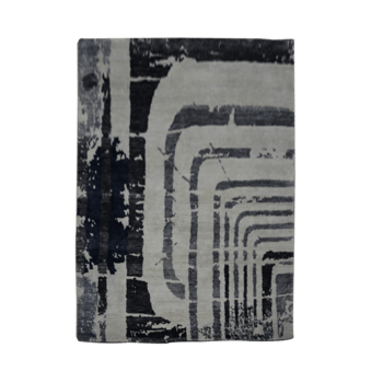 Shtab - The abstract contemporary throw rug