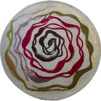 Gelato - The round colorful area rug