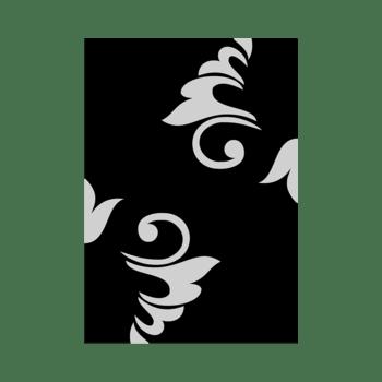 Zwart - The simple dual color indoor rug