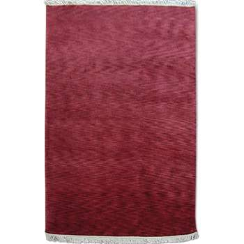 Carmine - The plain textured red area rug