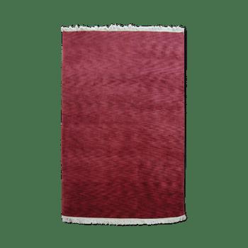 Carmine - The plain textured red area rug