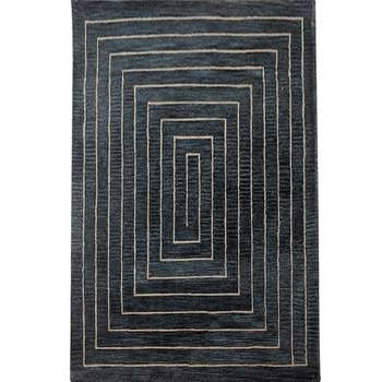 acies - simple dark indoor area rug