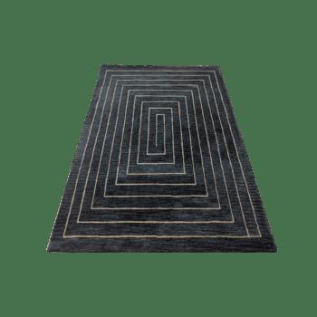 acies - simple dark indoor area rug