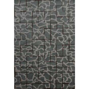 aroubei - gray abstract contemporary rug