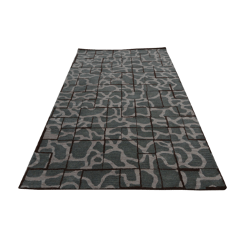 aroubei - gray abstract contemporary rug