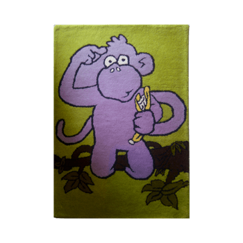 chim - a playful indoor monkey area rug