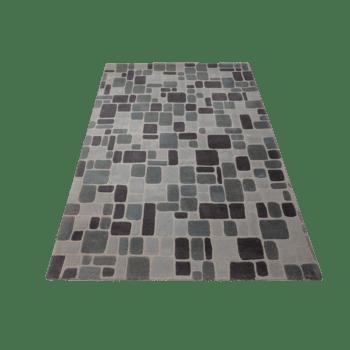 cigle - modern dark living area rug