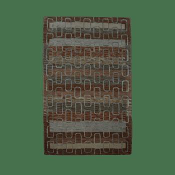 egwu - brown gray living area rug