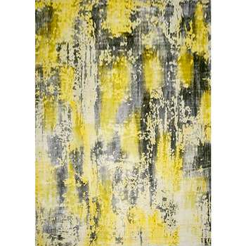 geel - the yellow gray contemporary carpet