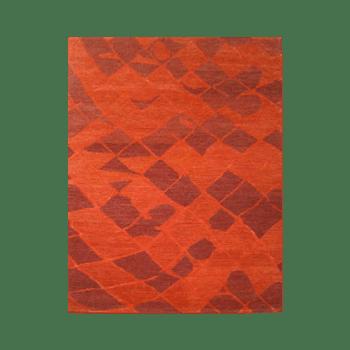 haya - the red modern area rug