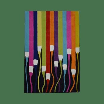kalem - colorful living area rug for kids