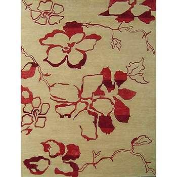 kvietka - the natural simple floral rug
