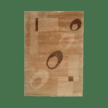 niaj - simple modern brown area rug