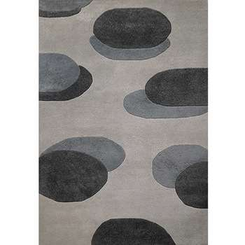 piiri - simple modern brown area rug