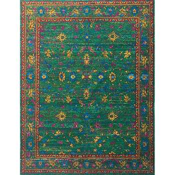sikhiav - the traditional persian green rug