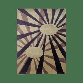 solis - brown bedroom area living rug